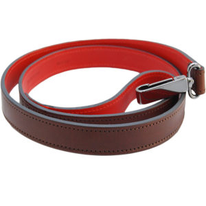 The Alice Foxx Alice dog lead in brown and red