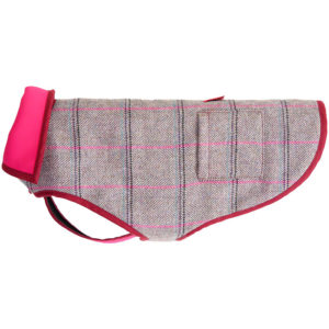 An Alice Foxx Bertie dog coat in pink tweed