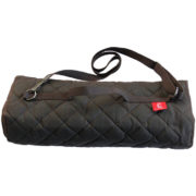 Glastonbury dog travel bed with carrying strap