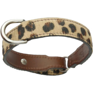 An Alice Foxx Leopard print pony hair Grace collar