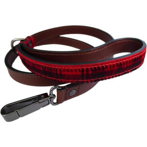 The Alice Foxx Mackintosh dog lead with tartan pony hair handle and gun-metal clip