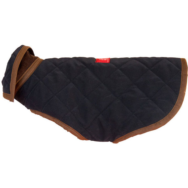 An Alice Foxx luxury quilted Monaco dog coat - side view