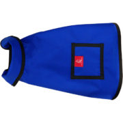 An Alice Foxx City Slicker breathable dog rain coat in blue Aclimatise fabric