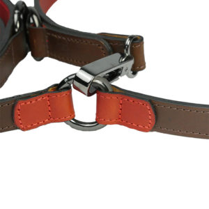 Alice Foxx Edward cross body dog lead close detail on fittings