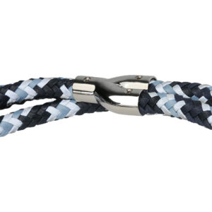 Alice Foxx Marinetti dog lead in woven Italian Vegetable tanned leather
