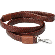 Alice Foxx Venezia Dog Lead in hand finished woven Italian Vegetable tanned leather.